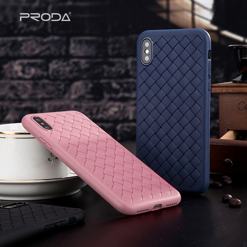 Remax Proda For IPhone 7 7plus 4.7 Phone Cases Simple Braided Style Mobile Back Case For IPhone X Cover Full Protection Case