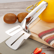 цена на Stainless Steel Kitchen Tongs Beef Steak Bread Pizza Clamp BBQ Clip Barbecue Grill Turner Food Tongs For Vegetable Handle Utensi