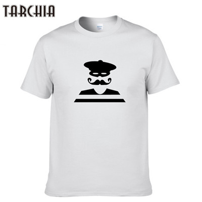 TARCHIA T-Shirt Men Brand Clothing Top Quality Fashion Mens T Shirt 100%Cotton Print Casual T-Shirt Men Brand Tees Tops Homme