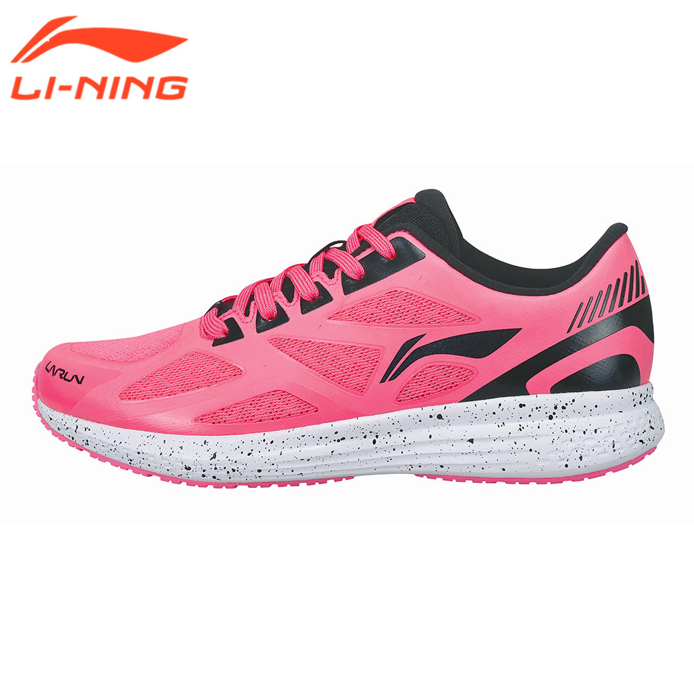 Li-Ning Women Sneakers Cushion Running Shoes Breathable Design Speed Star Series Sport Running Sneaker Pink/Blue/Black LiNing high quality original kids sneaker skid proof cushion running shoes athletic breathable children sport shoes xrkb001