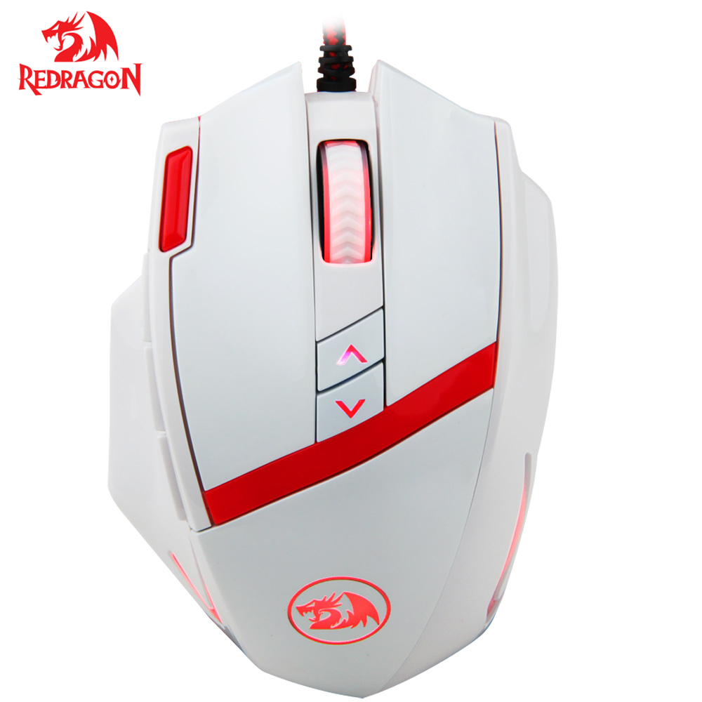 Redragon Gaming Mouse 16400 DPI Programmable Laser 10 Buttons 16Million color breath light Gaming Mouse for PC Gamer цена