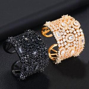 Image 3 - GODKI יוקרה מעוקב Zirconia טבעות נישואים לנשים כלה אירוסין חתונת תכשיטי CZ Femmale אביזרי כל אצבע טבעות