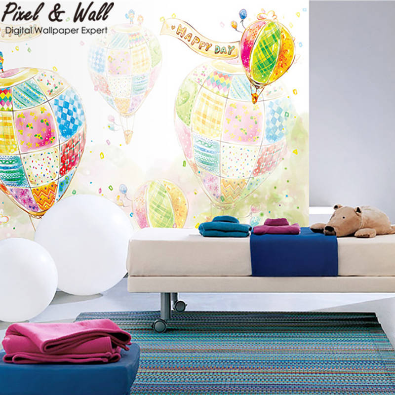 Colored lead balloon graffiti wallpaper mural for girls room decoration accessories STDM30312