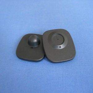 1000pcs/lot 48mm*42mm small square hard tag eas rf system anti theft clothing security tags