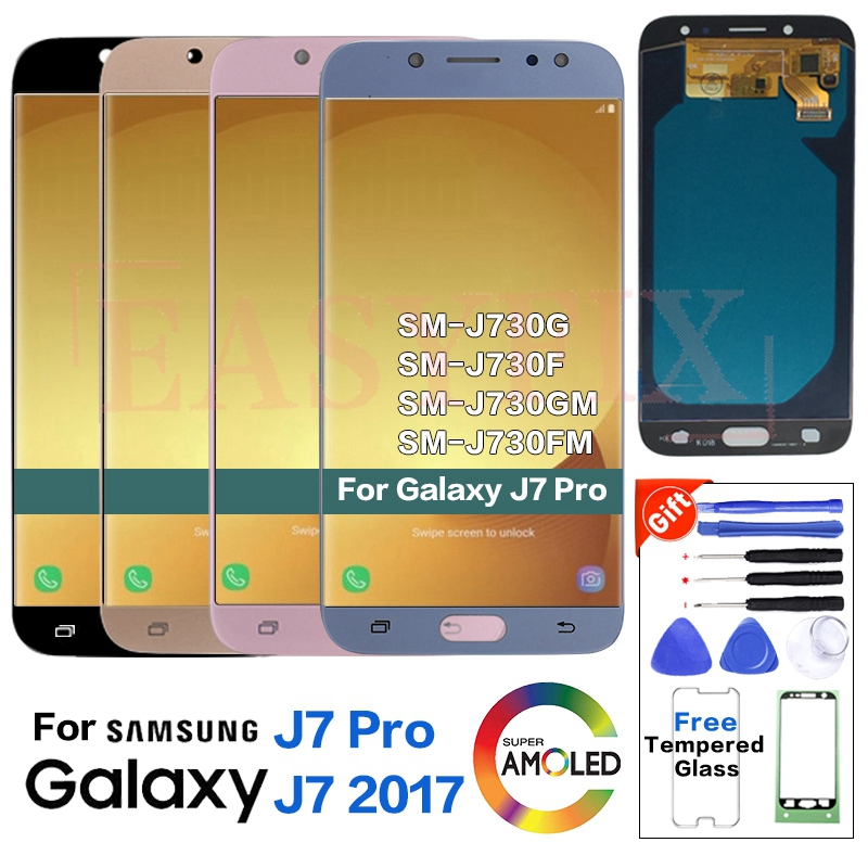 AMOLED For SAMSUNG J7 Pro J730 J730G J730GM J730FM Display LCD Screen Replacement for Samsung J7 2017 J730F LCD Display ScreenAMOLED For SAMSUNG J7 Pro J730 J730G J730GM J730FM Display LCD Screen Replacement for Samsung J7 2017 J730F LCD Display Screen