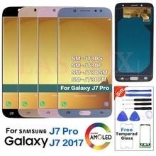 AMOLED For SAMSUNG J7 Pro J730 J730G J730GM J730FM Display LCD Screen Replacement for Samsung J7 2017 J730F LCD Display Screen samsung original replacement battery eb bj730abe for samsung galaxy j7 pro j730f j730g j730ds j730fm j730gm j730k 3600mah