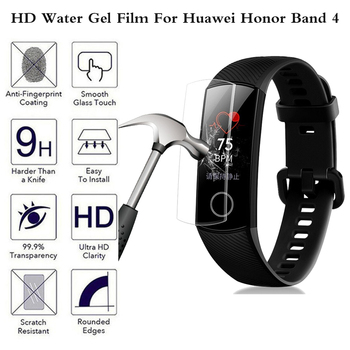 HD Water Gel Film For Huawei Honor Band 5 4 Screen Protector Cover Anti-Scratch Ultra Clear Full Screen Protective Films protective pc clear screen films w cleaning cloth for xiaomi mione 1s transparent 6 pcs