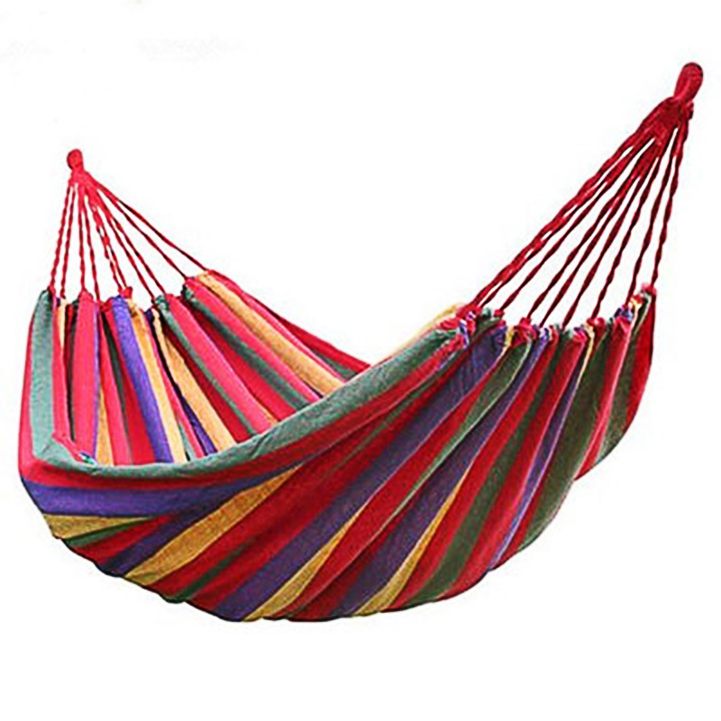 Hammock Canvas Single Outdoor Camping Leisure Swing Tree Bed Garden Swing Chair Strong And Stable