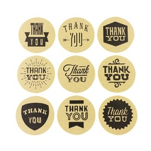 90pcs/lot Nine Kinds Of THANK YOU Font Sealing Stickers Packaging Label Gift Bag Candy Box Decor