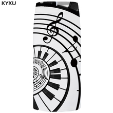 цены на KYKU Brand Music Skirts Women Note 3d Print Skirt Black And White Party Sexy Pencil Floral Ladies Skirts Womens Office  в интернет-магазинах