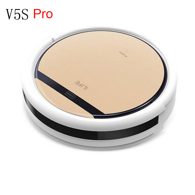 ILIFE V5s Pro Intelligent Robot Vacuum Cleaner with Self-Charge Dry and Wet Mopping for Wood Floor philips brl130 satinshave advanced wet and dry electric shaver
