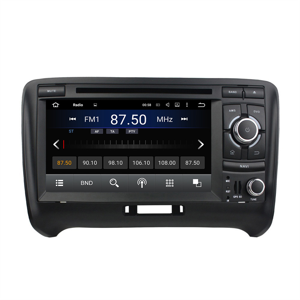 Pure Android 5.1.1 Quad Core 1024*600 7 2 Din Car Radio RDS Video Player GPS Navigation Car DVD Player For Audi TT 2006-2013