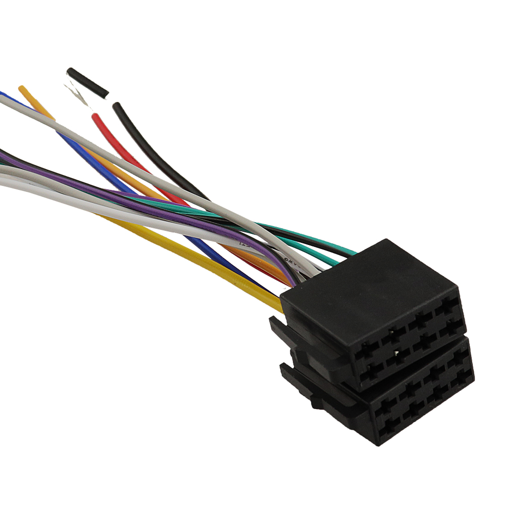 small resolution of universal female car radio wire cable wiring harness stereo adapter connector adaptor plug power and loudspeaker in cables adapters sockets from