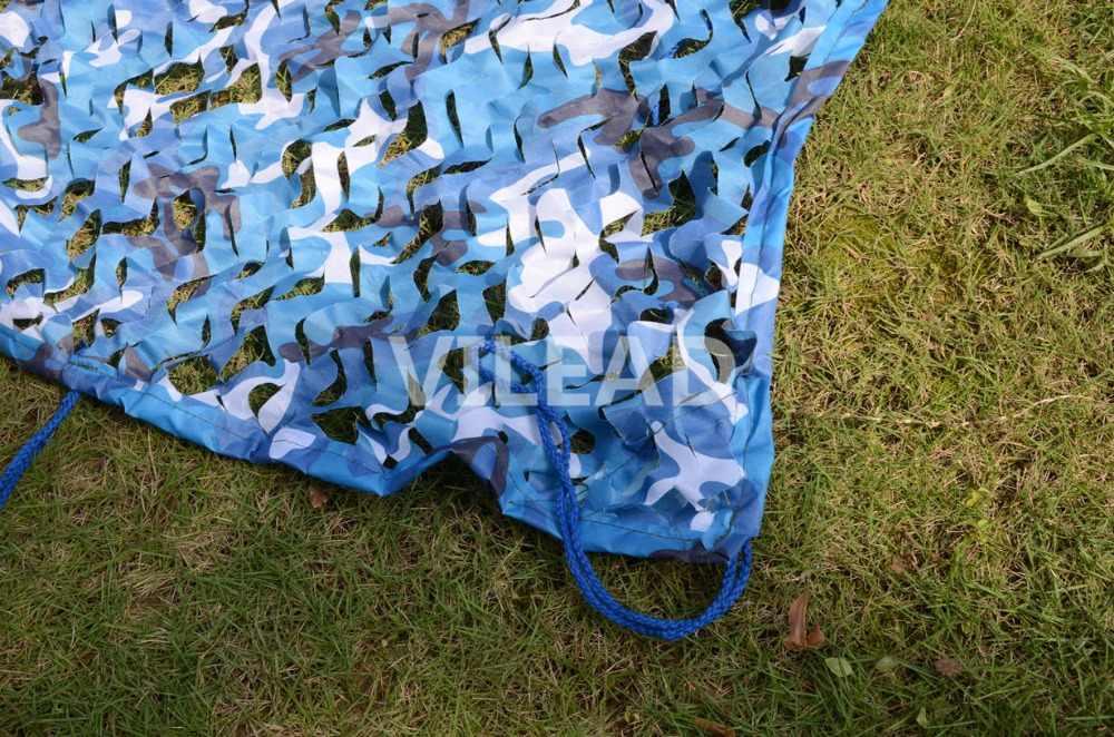 VILEAD 4x8M fCamo Compensação Azul Rede De Camuflagem Camo Lona Sol Abrigo para a Decoração Interior Do Carro Cobre Evento decoração