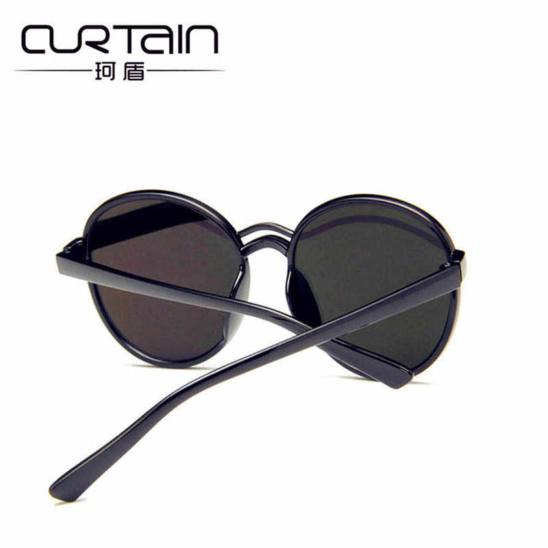 7050aa5b51 ... CURTAIN 2019 Luxury Mirror Sunglasses Women Men Brand Designer Glasses  Lady Round Sun Glasses Street ...