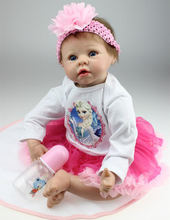 22 inch Reborn Baby Doll Soft Silicone Vinyl Lovely Lifelike Cute Toddler Baby Dolls Sweetheart Cuddle Doll