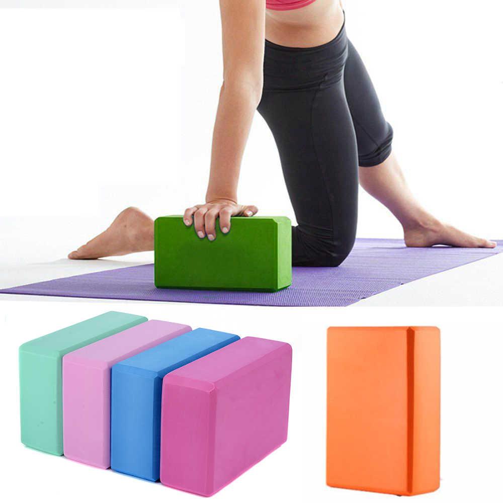 4X Yoga Block EVA Foaming Foam Brick Pilates Exercise Fitness Up Stretching V6X2