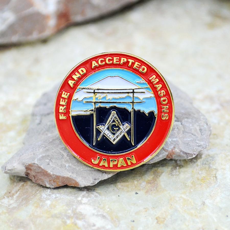 Masonic Lapel Pins Badge Mason Freemason   Japan Fujiyama  2.5cm Zinc alloy material  exquisite souvenirs  gifts