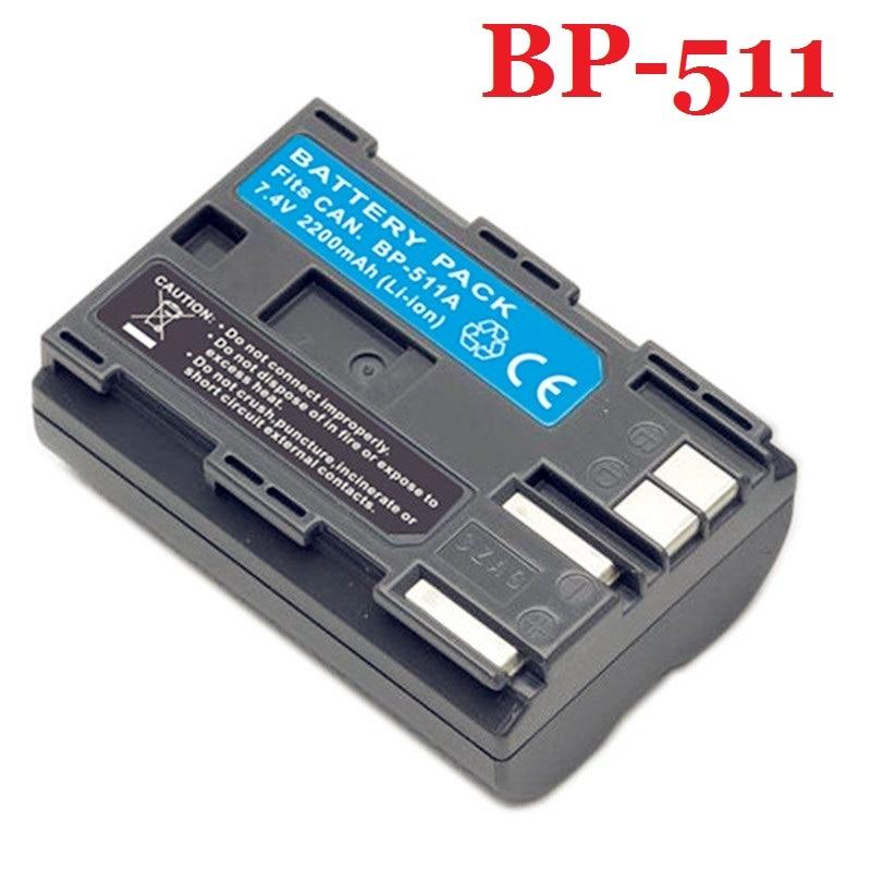 BP-511 Battery BP-511A BP511 BP511A For Canon G6 G5 G3 G2 G1 EOS 300D 50D 40D 30D 20D 5D MV300i Digital Camera 7.4V Li-ion+Track