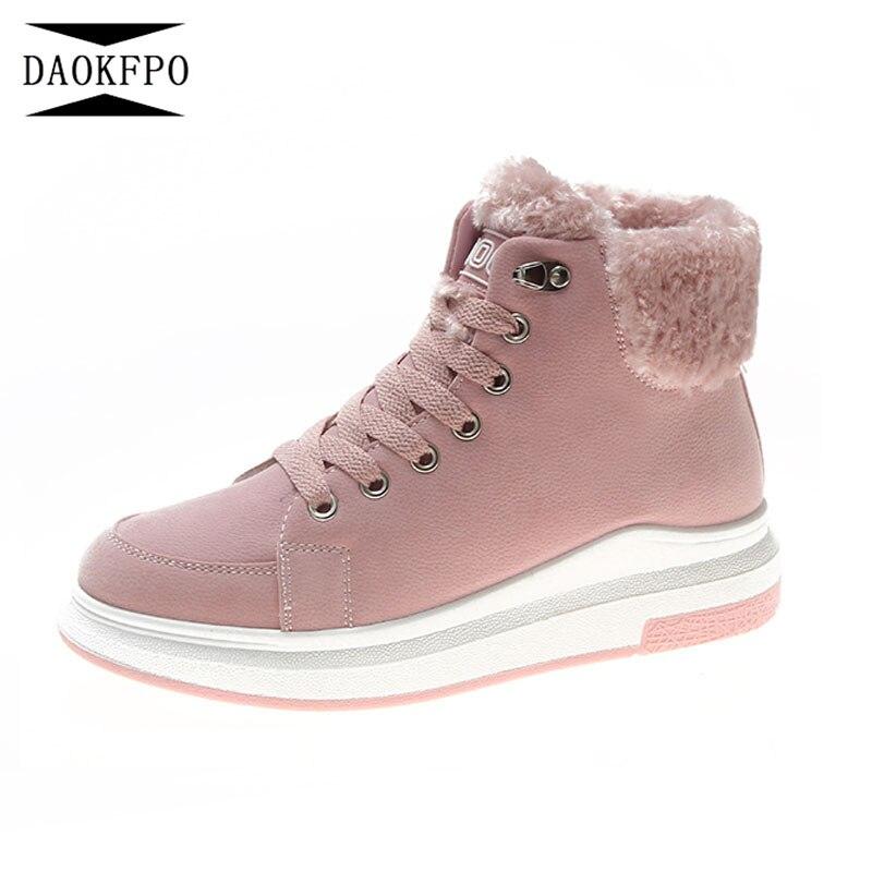 1 Encaje Zapatos La Pisos Plataforma Caliente 2 Para Mujeres De Nieve 3 Las  Tobillo Mujer ... 4b7c5f274dea