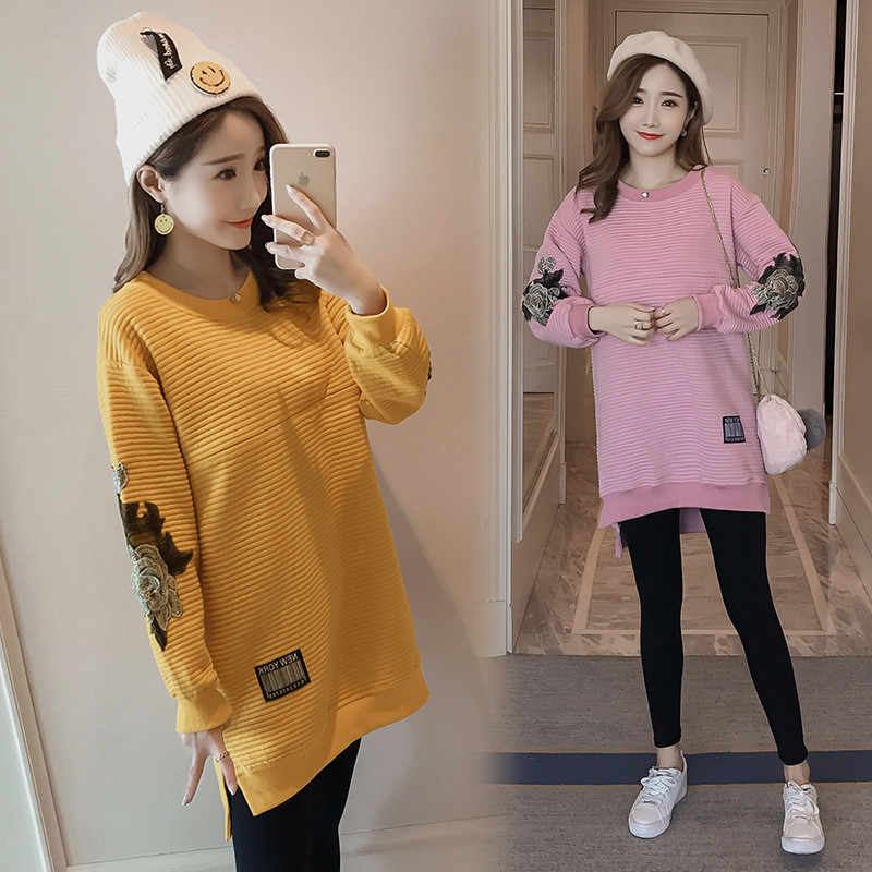 62bbce9ef69 ... Maternity Clothes Nursing Tops Winter Clothes For Pregnant Women Autumn  Hoodies Sweatshirts Breastfeeding Pregnancy Clothing ...