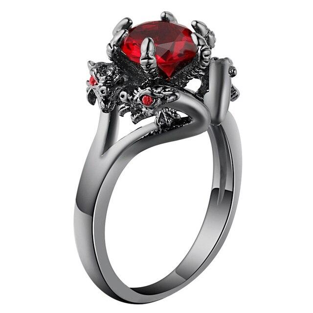 Фото кольца hainon с черным пистолетом крутые мужские кольца драконом