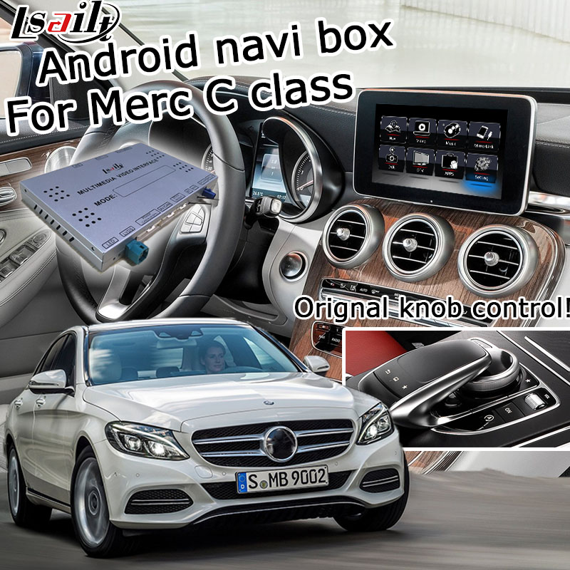 US $467 5 15% OFF|Android GPS navigation box for Mercedes benz C class W205  NTG 5 0 video interface box COMMAND Audio20 mirror link with carplay-in