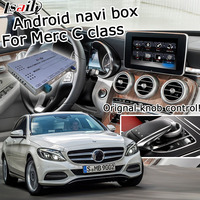 Android gps навигатор для Mercedes benz C class W205 NTG 5,0 видео бокс интерфейса команда Audio20 зеркальная Ссылка с carplay