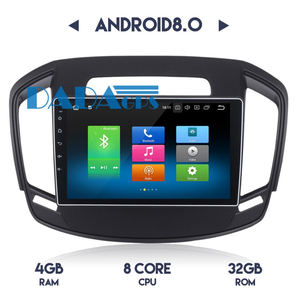2 <font><b>din</b></font> <font><b>Android</b></font> <font><b>8.0</b></font> 4GB RAM <font><b>Car</b></font> Radio DVD Player for Opel Vauxhall Holden Insignia 2014-2017 <font><b>Stereo</b></font> GPS Navi Headunit Multimedia image