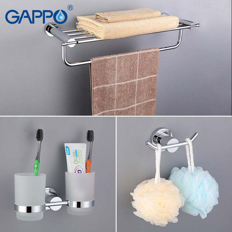 aliexpresscom buy gappo bathroom accessories towel barpaper holderdouble toothbrush holderbathtowel backtowel ringbathroom sets ga18t13 from