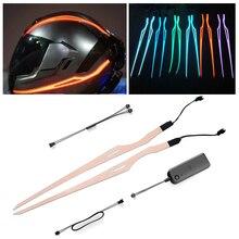 Motorcycle Helmet LED Light Waterproof Durable Motorcycle Night Riding Signal Ba