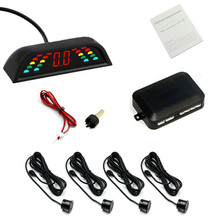 New Parking Sensors Car Reverse Backup Front Rear LED Display System Radar Alarm Car Styling Free Shipping Car Accessories