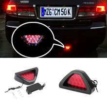 1Piece F1 Style Car Auto Motorbike Led Brake Stop Lights Lamps Blinking Flashing Light Fitting 12V Led Lighting Car Styling Red