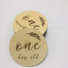 14pcs a lot laser cut timber wood baby milestone cards newborn gift photography props