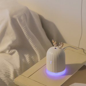 Image 3 - 220ml חמוד איילים אדים DC5V USB לבן צבי/ורוד ארנב אוויר מכשיר אדים בית משרד שולחן העבודה מפזר חג המולד יום הולדת מתנה