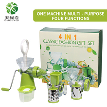 DUOLVQI4in1 Multifunctional Vegetable Shredder Slicer Cutter Grater with Stainless Steel Blades Kitchen Tool Kitchen Gadgets