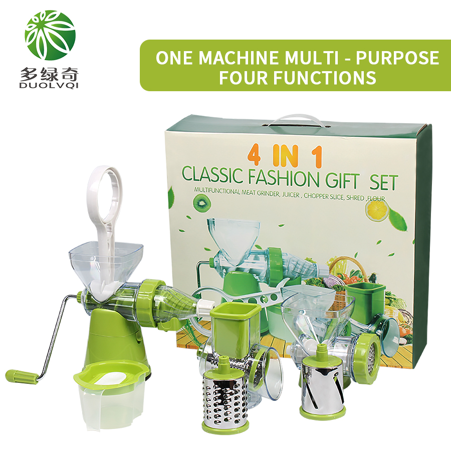 DUOLVQI 4in1 Multifunctional Vegetable Shredder Slicer Cutter Grater with Stainless Steel Blades Kitchen Tool Kitchen Gadgets