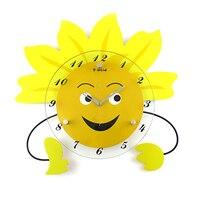 Деревянная арка гамак часы мультфильм настенные часы моды ребенок реального карманные часы деревенские часы кабинет Mute Движение Часы
