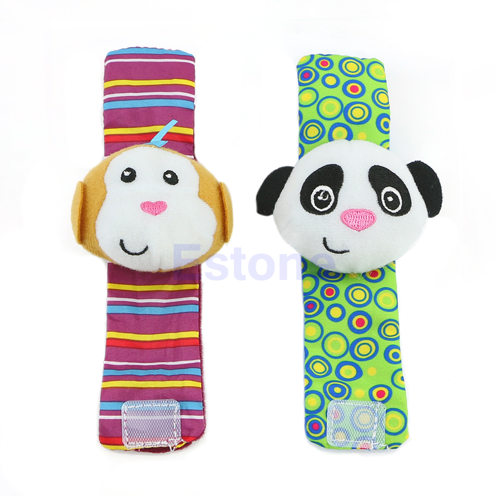 2018 New 1PC Multi Shape Developmental Toy Animal Baby Infant Kid Soft Hand Wrist Bells Foot Sock Rattles Baby Kids Child Gifts