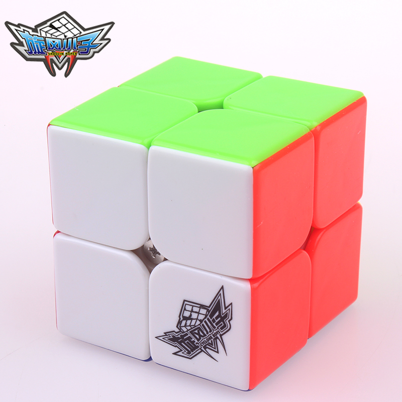 2x2x2 Cyclone Magic Speed Cube Boys 2 On 2 Stickerless Puzzle Twist Professional Pocket Cube Toys For Children Gift