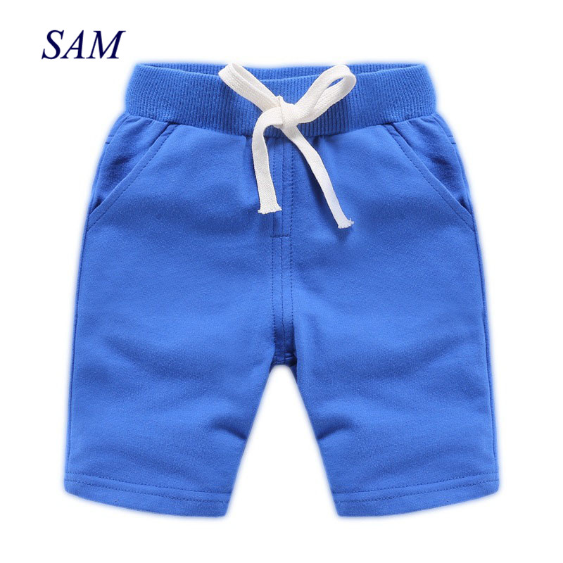 2019 summer children's   shorts   baby boys solid european and american elastic waist   short   pants kids   shorts   for 18M-9Y
