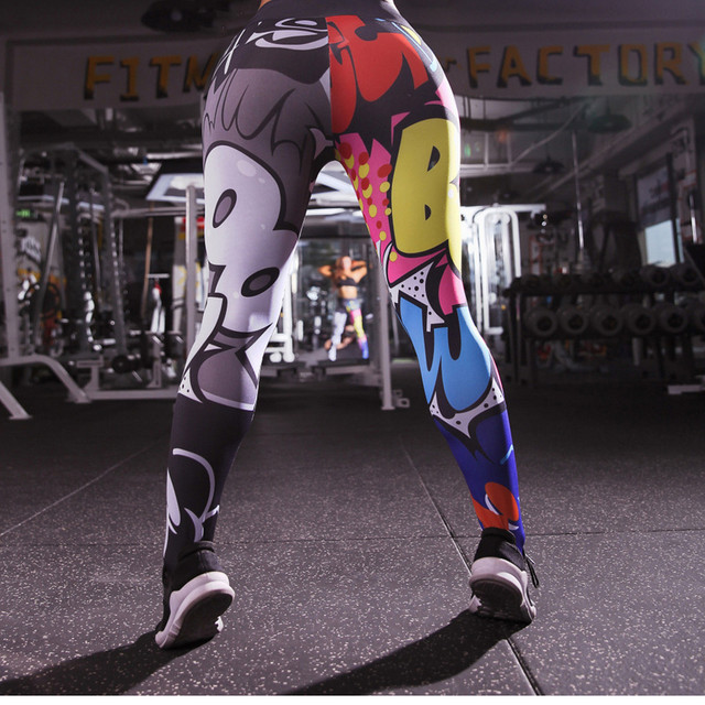 Holographic Color 3D Graphic Full Printed Workout Yoga Pants 1