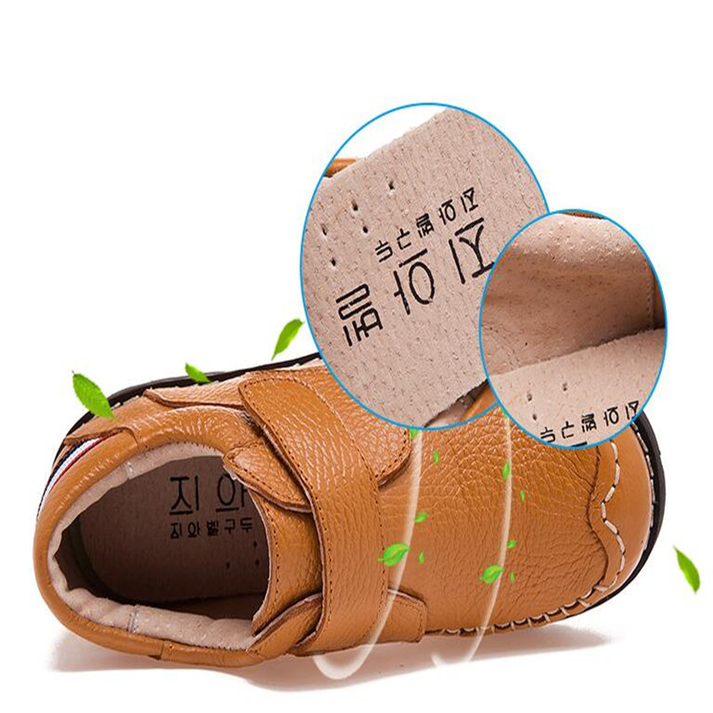 Boy leather shoes Childrens shoes 2017 autumn new boys peas student performance casual shoes breathable non slip kids sneakers