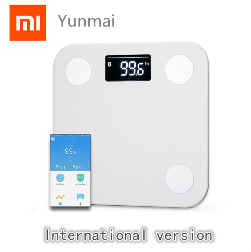 Xiaomi Mijia Yunmai Mini Smart Scale - Body Fat Scale with New FREE APP & Body Composition Monitor work with For iphone 8 /X image
