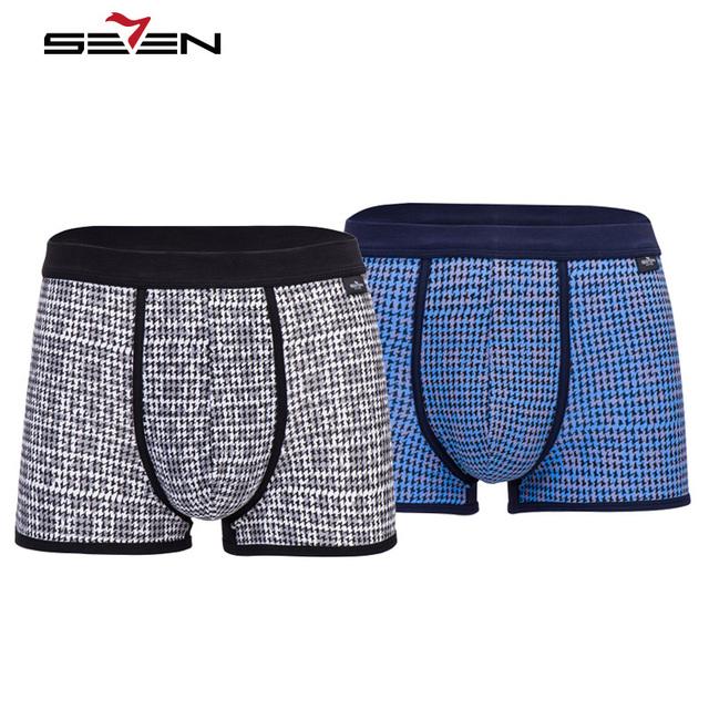 Homens casuais da marca de underwear boxers seven7 1 peça confortável alta elástica impressão sexy shorts pugilistas dos homens gráfico 109g40120