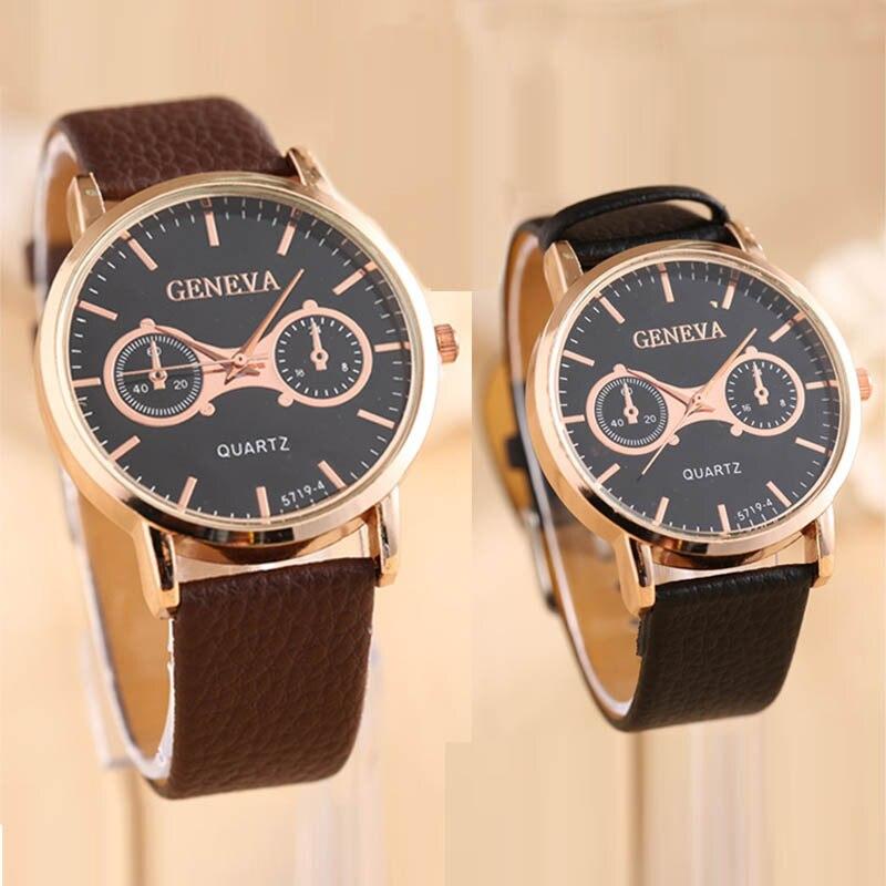 NewVogue Luxury Man Leather Band Analog Quartz Wrist Watches Wrist Watch elogio masculino2017 New fabulous 2016 quicksand pattern leather band analog quartz vogue wrist watches 11 23