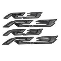 KODASKIN Motorcycle 3D Raise Carbon R3 Emblem Stickers Decal for YAMAHA YZF R3