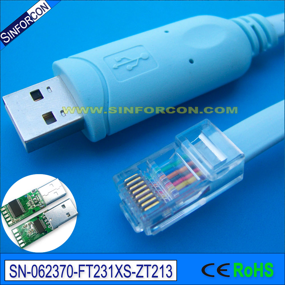 Sinforcon ft231 usb rs232 rollover to rj45 cab console rj45 ftdi usb console cable for cisco huawei router 6ft network routers ftdi usb rs232 to rj45 console cable for cisco router zte router ethernet switches cables 1 8m 5m