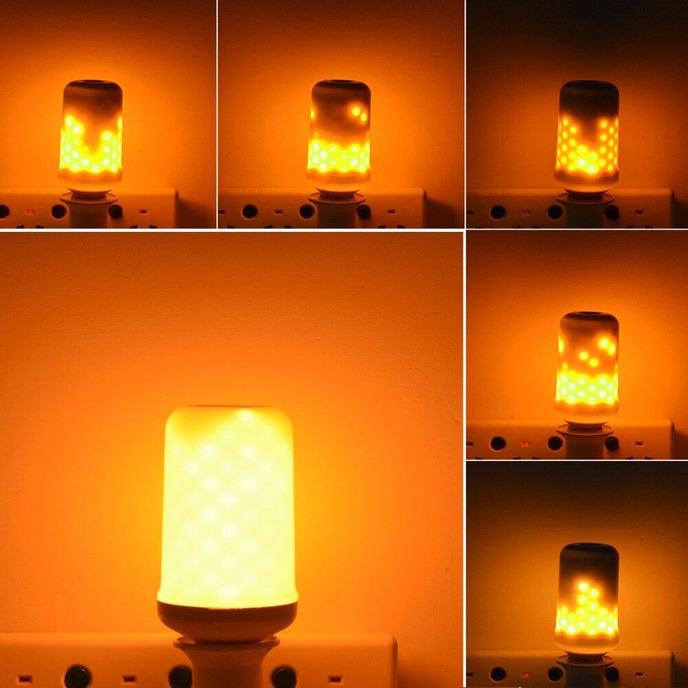 110V-240V E27 Simulation Flame Effect Emulation Fire Flicker Burning Flameless Decoration lamp lantern LED Bulb Corn light цена