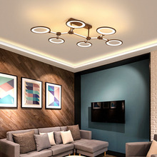 Nordic lighting modern minimalist living room lamp home circle creative personality led ceiling lamp living room bedroom lamp minimalist modern creative personality living room bedroom lamp study different circular ceiling decorated nordic led